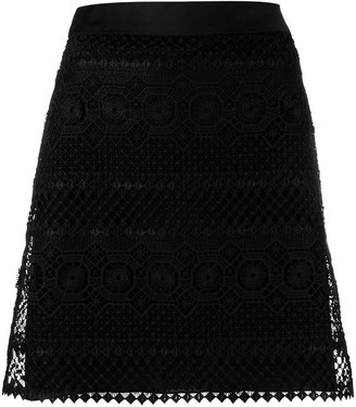 Alberta Ferretti Crochet Layered Mini Skirt