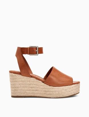Calvin Klein Chyna Leather Wedge Sandal