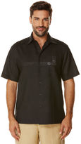 Cubavera Short Sleeve Ramie Cotton Geo Embroidery With Pocket