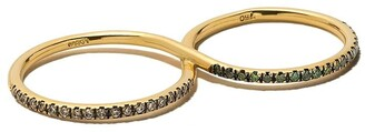 Ileana Makri 18kt Yellow Gold Diamond Double Ring