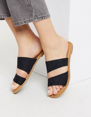 Call it SPRING brosna flat sandals in black