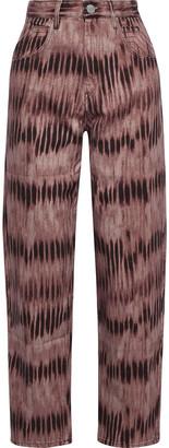 Isabel Marant Dorsya Tie-dyed High-rise Straight-leg Jeans