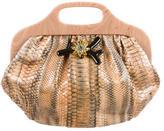 Lanvin Crystal Embellished Python Handle Bag