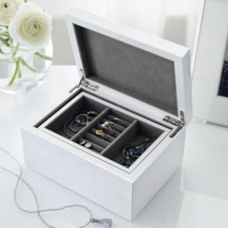 The White Company Lacquer Jewellery Box, White, One Size