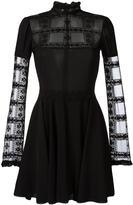 Giamba sheer detail lace dress