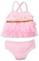 Juicy Couture Infant Girls) Crisscross Back Tutu Bikini