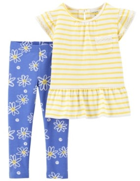 Carter's Baby Girls Daisy Tee and Legging Set, 2 Pieces
