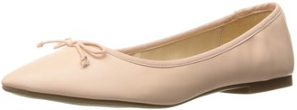 Rampage Women's Balley Almond Closed Toe Ballet with Bow and Memory Foam Insole Flat