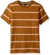 Volcom Mens Briggs Crew Short Sleeve Striped Knit Shirt