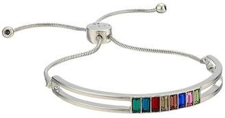 GUESS 1/2 Bangle w/ Stones and Slider Close Back Bracelet (Multi) Bracelet