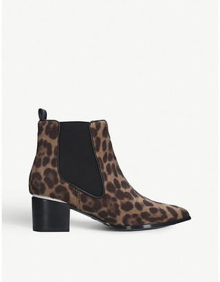 Nine West Taye leopard-print faux-ponyhair Chelsea boots