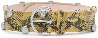 Etoile Isabel Marant Leopard-Print Studded Belt