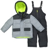 Osh Kosh Toddler Boy Quilted Colorblocked Jacket & Bib Overall Snow Pants Set