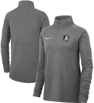 Nike Women's Heathered Gray Florida State Seminoles Element Essential Performance Half-Zip Pullover Jacket