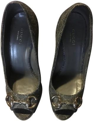 Gucci Grey Tweed Heels