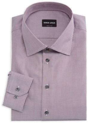 Giorgio Armani Houndstooth Dress Shirt