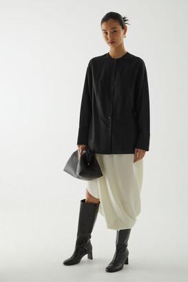 Cos Cotton-Mulberry Silk Mix Tunic-Style Shirt