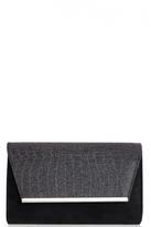 Quiz Black Snake Shimmer Clutch Bag
