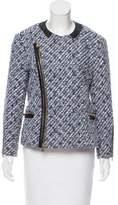 Louis Vuitton Leather-Trimmed Bouclé Jacket