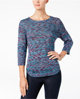 NY Collection Petite Space-Dyed Sweater