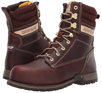 Caterpillar Clover 8 Steel Toe (Tawny Full Grain Leather) Women's Work Boots