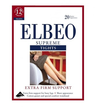 Elbeo Extra Firm 30D Supreme Support Tights-Cafe Creme-Size 4