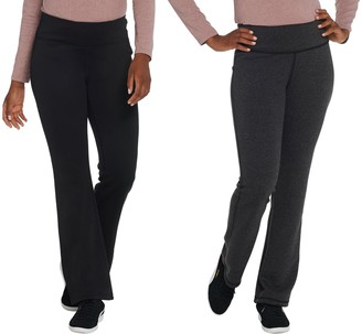 Denim & Co. Active Regular Reversible Knit Boot-Cut Pants