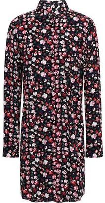 Equipment Essential Floral-print Crepe De Chine Mini Shirt Dress