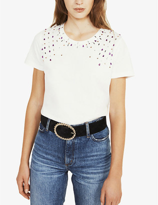 Claudie Pierlot Toshine cotton-jersey T-shirt