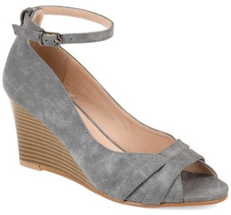 Brinley Co. Womens Ankle-strap Wedge