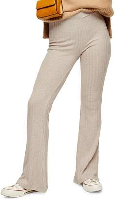 Topshop Variegated Ribbed Flare Trousers