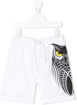 Il Gufo Owl Print Swim Shorts