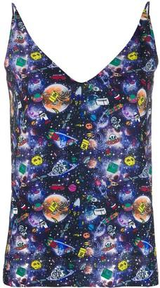 Ultràchic Space-Print Sleeveless Top