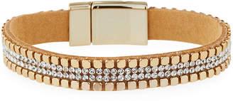 Panacea Crystal Faux Leather Bracelet