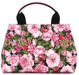 Dolce & Gabbana floral print bag - kids - Cotton/Calf Leather - One Size