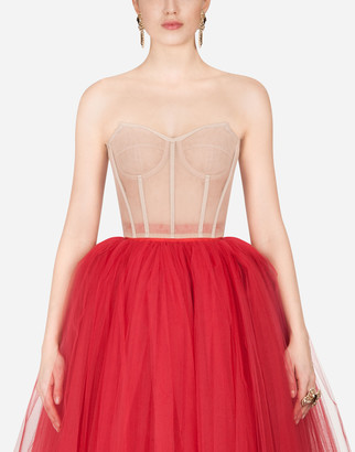 Dolce & Gabbana Short Tulle Bustier