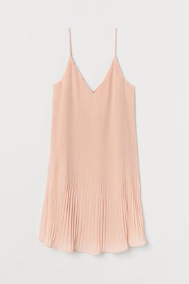H&M Pleated Chiffon Dress