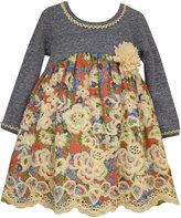 Bonnie Baby Baby Girls' Empire-Waist Floral Dress