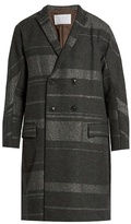 Kolor Notch-lapel Wool-blend Overcoat