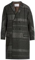Kolor Notch-lapel wool-blend overcoat