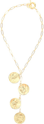 Timeless Pearly CHAIN NECKLACE WITH MEDALLIONS OS Gold