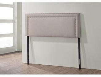 Red Barrel Studioâ® Huey Upholstered Panel Headboard Red Barrel StudioA Color: Light Beige, Size: King