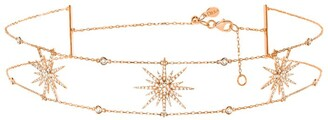 Djula Rose Gold And Diamond Sun Choker