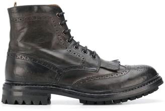 Officine Creative Brogue Tassel Boots