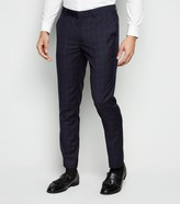 New Look Grid Check Suit Trousers