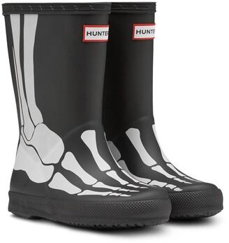 Hunter Original First Classic Skeleton Print Waterproof Rain Boot