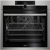 AEG BPE842720M Built-In Single Oven, Stainless Steel