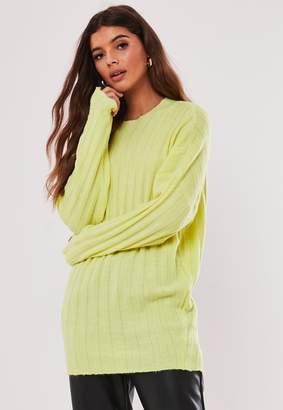 Missguided Yellow Extreme Rib Long Jumper