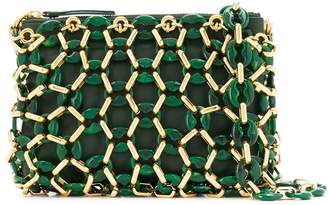 BY FAR chainlink overlay shoulder bag