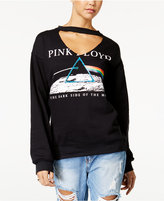 Freeze 24-7 Juniors' Cutout Pink Floyd Graphic Sweatshirt